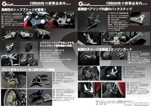 CBR250Rの新製品案内です。