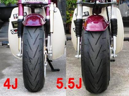 4.0Jと5.5Jの比較