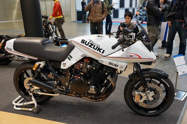 今年のモーターサイクルショーはいろんな所でカタナを見ました。
